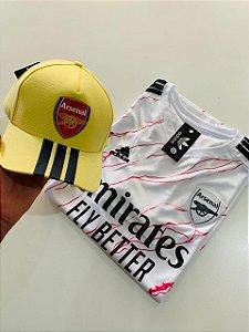 Kit Camiseta Arsenal + Bone Arsenal Com Frete Grátis
