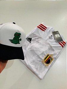 Kit Camiseta Bélgica + Boné Lacoste Com Frete Grátis