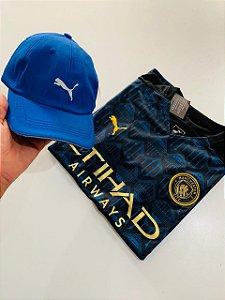 Kit Camiseta Manchester City 2021 + Boné Puma com Frete Grátis