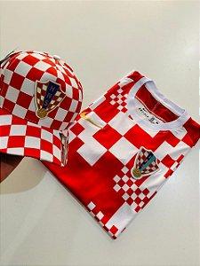 Kit Camiseta Croácia + Bone com Frete Grátis