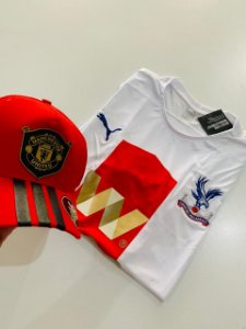 Kit Camiseta Crystal Palace + Boné Manchester Com Frete Grátis