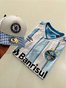 Kit Camiseta Gremio + Bone Chelsea Com Frete Grátis