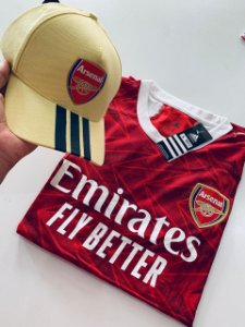 Kit Camiseta Arsenal + Boné Com Frete Grátis