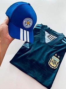 Kit Camiseta Argentina + Boné Com Frete Grátis