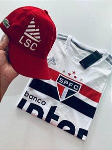 Kit Camiseta São Paulo + Boné lacoste Com Frete Grátis