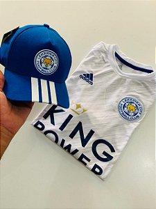Kit Camiseta Leicester Azul + Boné Com Frete Grátis