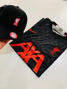 Kit Camiseta Liverpool + Boné Com Frete Grátis
