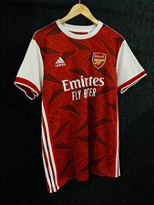 Camiseta Arsenal Vermelha Preta Com Frete Grátis