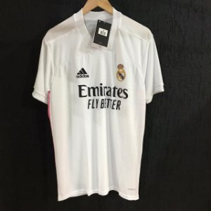 Camiseta Real Madrid Branca Com 2021 Com Frete Grátis