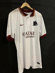 Camiseta Roma Branca 2021 Com Frete Grátis
