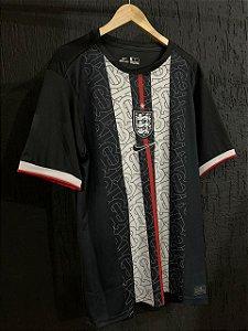 Camiseta Inglaterra Preta Treino 2021 Com Frete Grátis