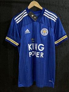 Camiseta Leicester Azul 2021 Com Frete Grátis