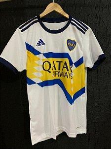 Camiseta Boca Junior Branca 2021 Com Frete Grátis