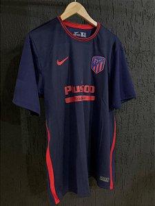 Camiseta Atletico De Madrid Azul 2021 Com Frete Grátis