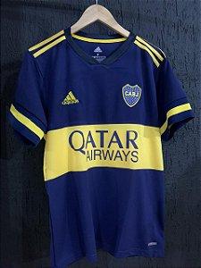 Camiseta Boca Junior Azul 2021 Com Frete Grátis