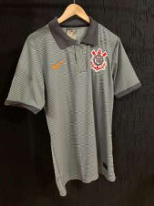 Camiseta Polo Corinthians Cinza 2021 Com Frete Grátis