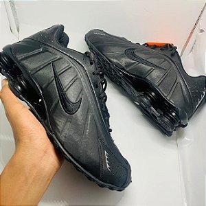 Ténis Nike Shox R4 All Black Com Frete Grátis