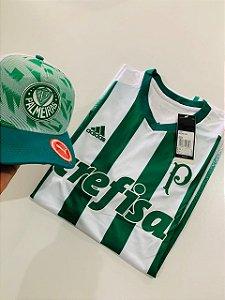 Kit camiseta Palmeiras Branco Adidas + Boné Com Frete Grátis