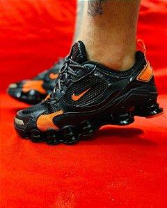 Ténis Nike Shox TL 12 Molas Preto Com Laranja Frete Grátis
