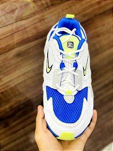 Ténis Nike Shox TL 12 Molas Branco Com Azul e Verde Frete Grátis