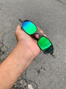 Óculos Oakley Juliet Lente Verde Brilho Reto Armação X-metal Frete Grátis