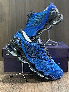 Tênis Mizuno Wave Prophecy 8 Azul Escuro Com Frete Grátis