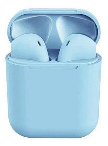 Fone Bluetooth InPods 12 5.0 Azul Bebe Oferta Frete Gratis