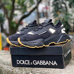 Ténis Dolce&Gabbana Daymaster Preto Frete Gratis
