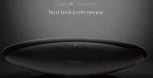 Bowers Wilkins Zeppelin Wireless - Sistema de som sem fio com Bluetooth e Airplay com DAC