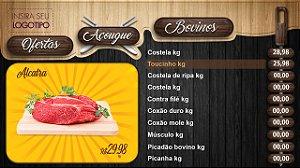 Tabela Digital para Açougue e Casa de Carnes com Balcão de Ofertas