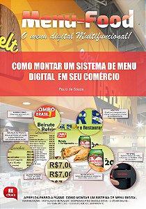 E-Book Como Montar sistemas de Menu Digital em Bares e Restaurantes - Grátis 01 Aplicativo licenciado por um ano para montar o seu Player