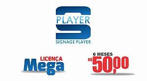 SIGNAGE PLAYER APLICATIVO PARA MÍDIA INDOOR - LICENÇA MEGA (6 MESES)