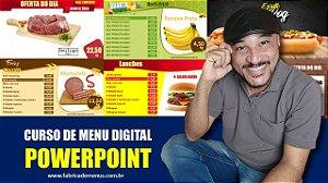 Curso de Menu Digital em PowerPoint com o Designer Paulo de Souza