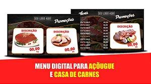 Menu Digital para Açougue e Casa de Carnes com Balcão de Ofertas