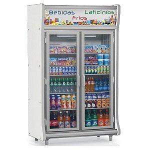 Expositora de Bebidas vertical 2 Portas Frost Free 922L Gelopar GEVP-2PCZ