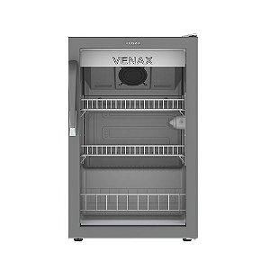 Expositora de Bebidas Vertical Branca com 1 Porta de Vidro Venax VV 100 L
