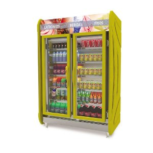 Expositora de Bebidas Vertical de 2 Portas Inox 930L Polar MASP125