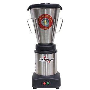 Liquidificador Industrial Monobloco Basculante de 4L Copo Inox Skymsen LS-04MB-N