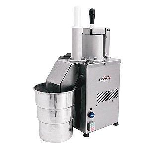 Processador de Alimentos Inox Bivolt com Motor de 1/2 CV e 6 Discos Becker PRAB-200