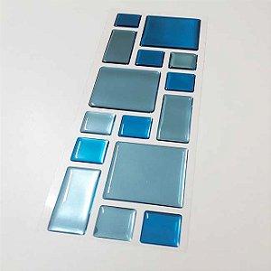 Pastilha Adesiva Resinada Espelhada 28x9 cm - Piscinas - P021