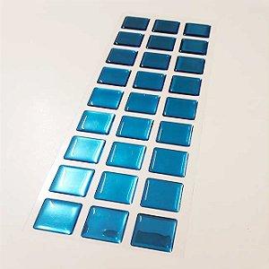 Pastilha Adesiva Resinada Espelhada 28x9 cm - Piscinas - P023