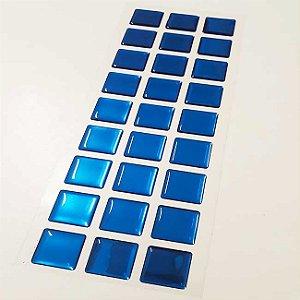 Pastilha Adesiva Resinada Espelhada  28x9 cm - Piscinas - P024