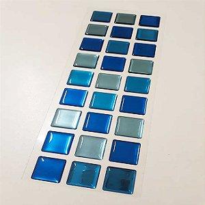 Pastilha Adesiva Resinada Espelhada 28x9 cm - Piscinas - P030