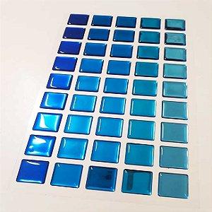 Pastilha Adesiva Resinada Espelhada 28x15 cm - Piscinas - P034