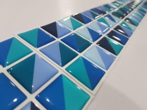 Faixa Pastilha Adesiva Resinada 27x8 cm - AT016 - Azul