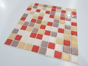 Placa Pastilha Adesiva Resinada 30x27 cm - AT049