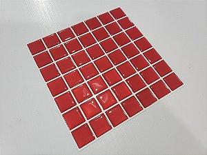 Placa Pastilha Adesiva Resinada 18x18 cm - AT069 - Vermelho