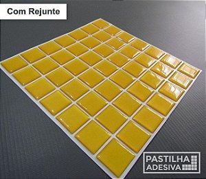 Placa Pastilha Adesiva Resinada 18x18 cm - AT072 - Amarelo