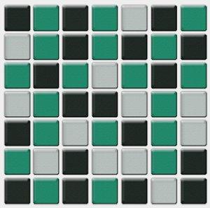 Placa Pastilha Adesiva Resinada 18x18 cm - AT080