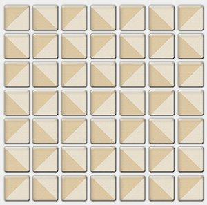 Placa Pastilha Adesiva Resinada 18x18 cm - AT083